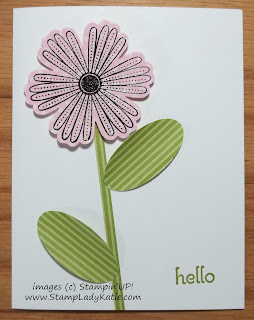 Card made with Stampin'UP!'s Mixed Medley stamp set and Designer Print Papers