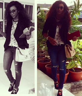 Genevieve Nnaji  Rocks another  $4,000 Chanel Caviar Leather bag