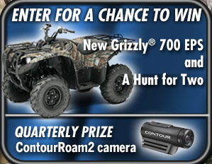 Enter for a chance to win a new Grizzly 700 EPS