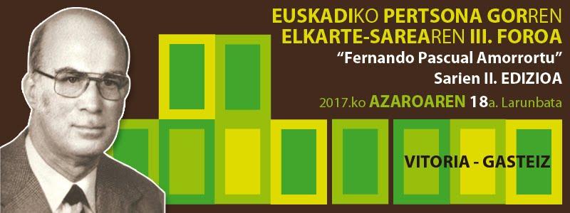 Euskadiko Pertsona Gorren Elkarte-Sarearen Foroa