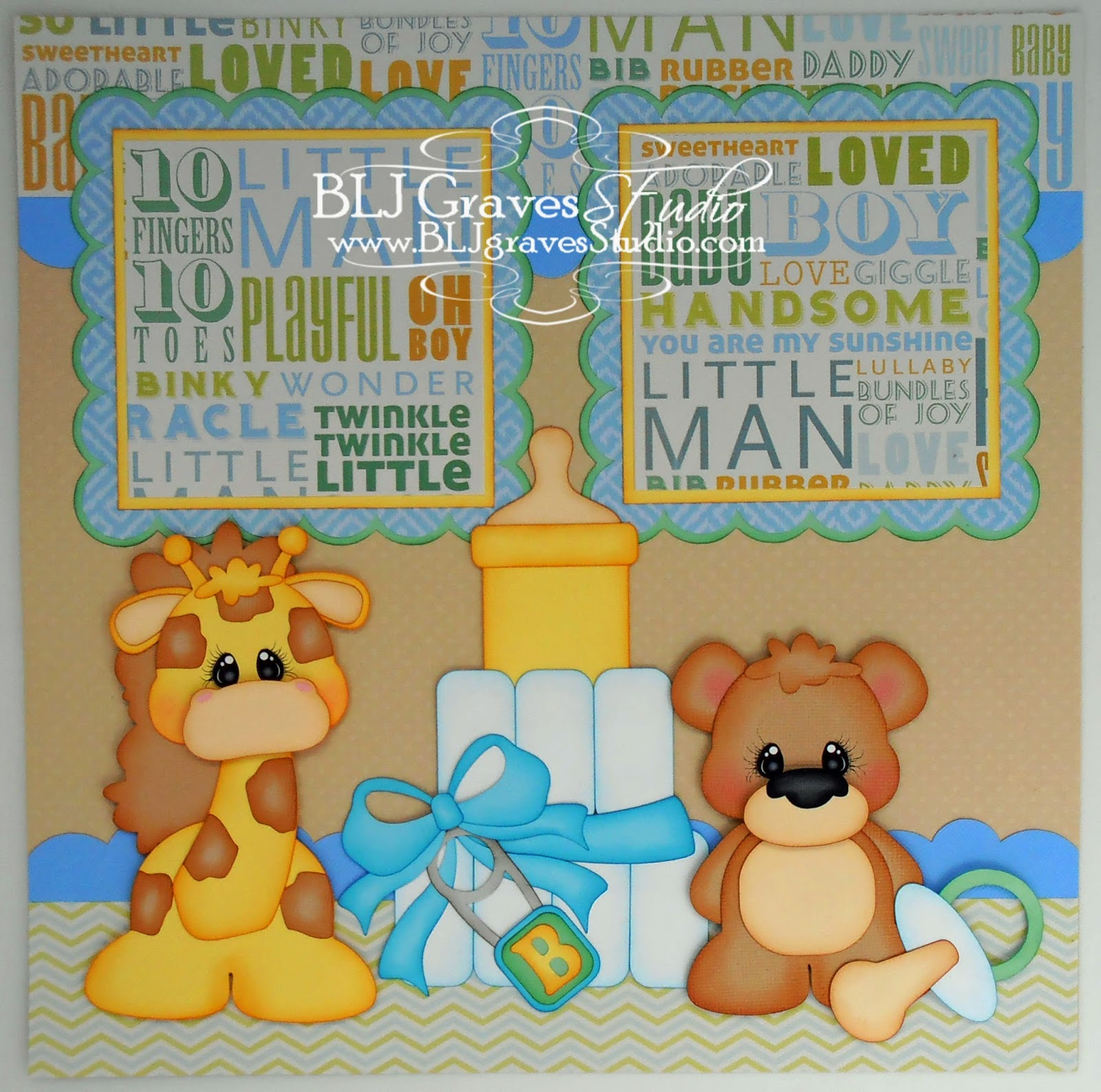 Amazing Baby Shower Scrapbook Pages Part - 6: I Used The Baby Shower And Animal Babies Cutting Files From Treasure Box  Designs For This Layout. Scroll Down For The Girl Version.