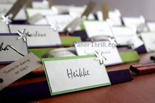 Beach wedding starfish placecards