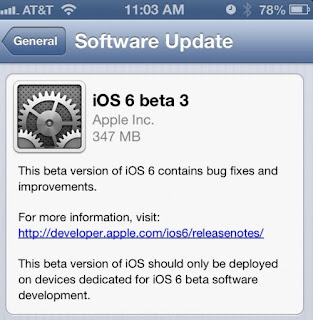 iOS 6 Beta 6 Firmware