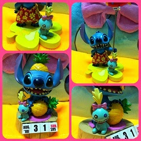 2009 HKDL STITCH + SCRUMP SUMMER FUN FIGURES
