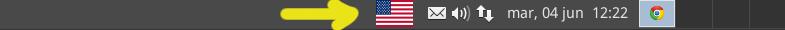 icono de distribucion de teclado en panel
