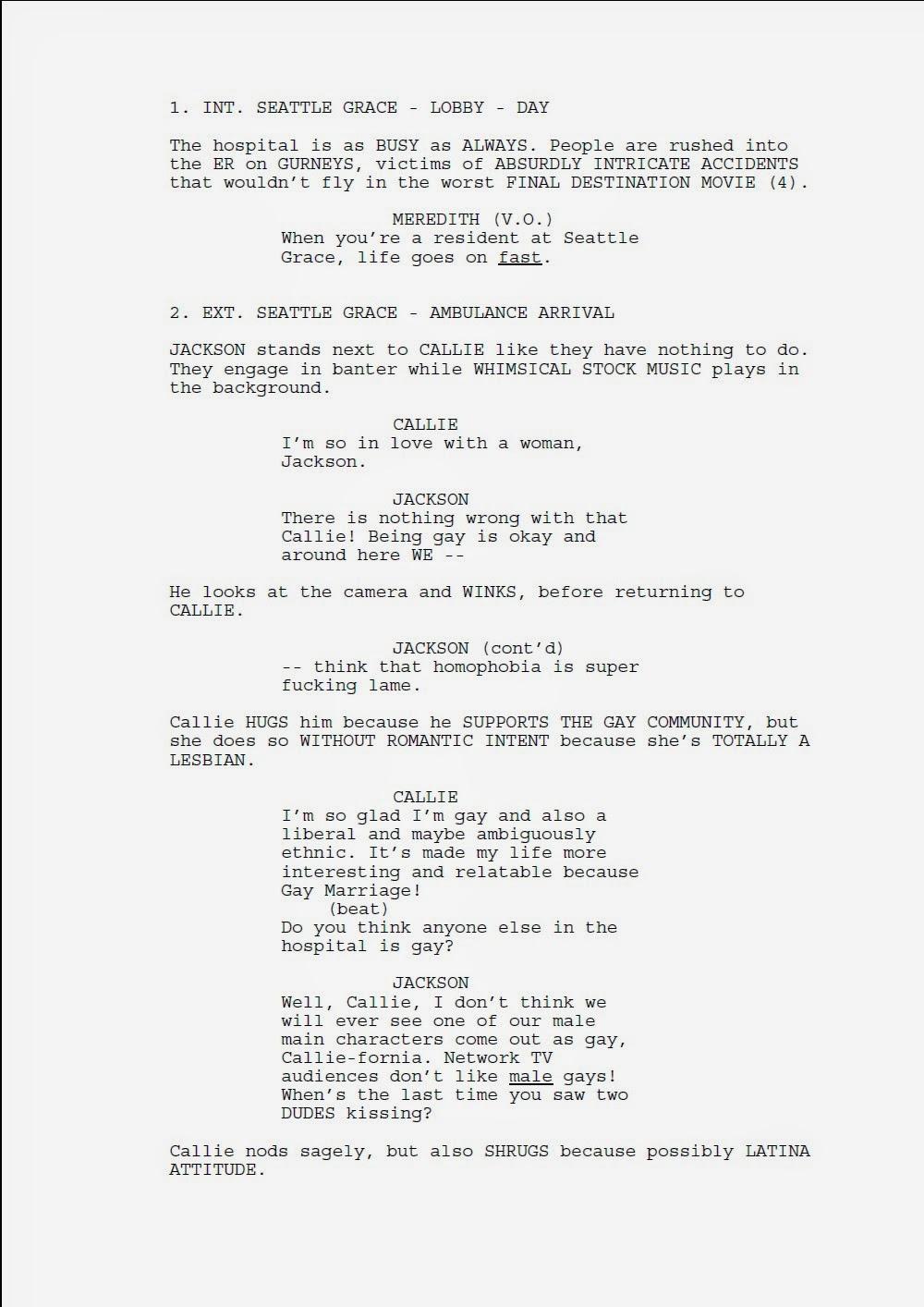 Sample TV Episode Script: \