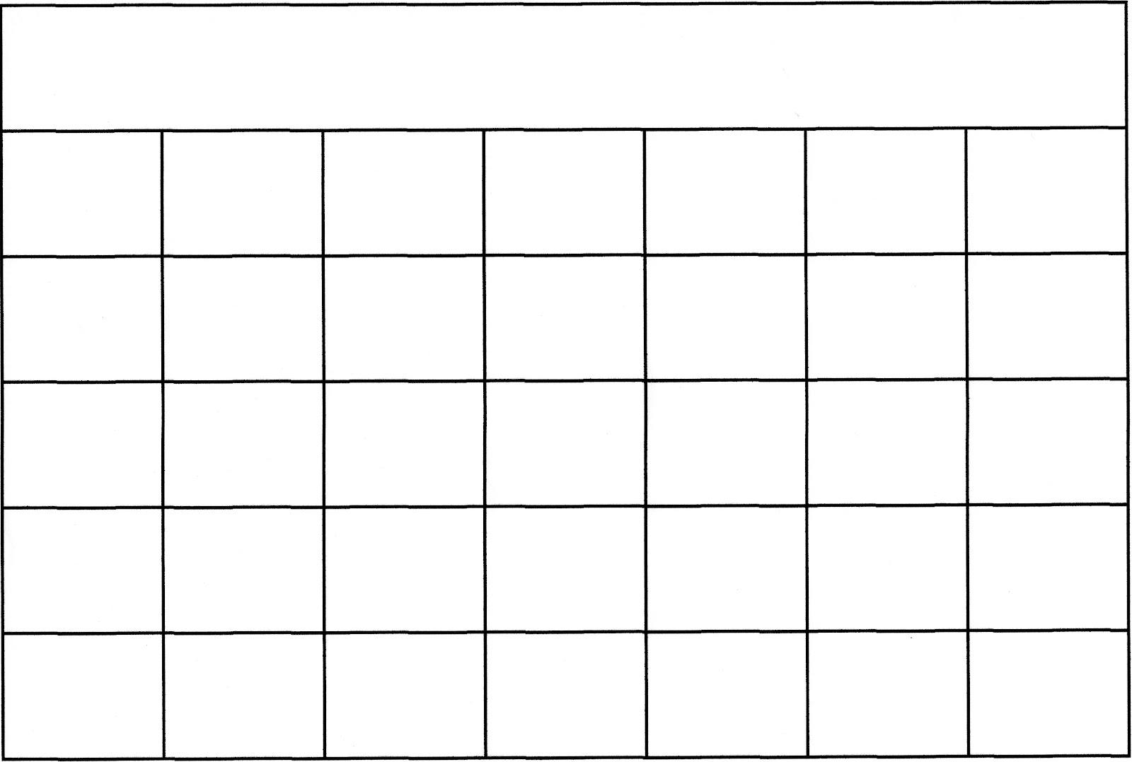 Printable 5 Day Calendar Printable Editable Blank – 5 Day Schedule Template