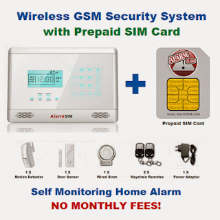 Prepaid Wireless Home Security Alarm System Sim Cards