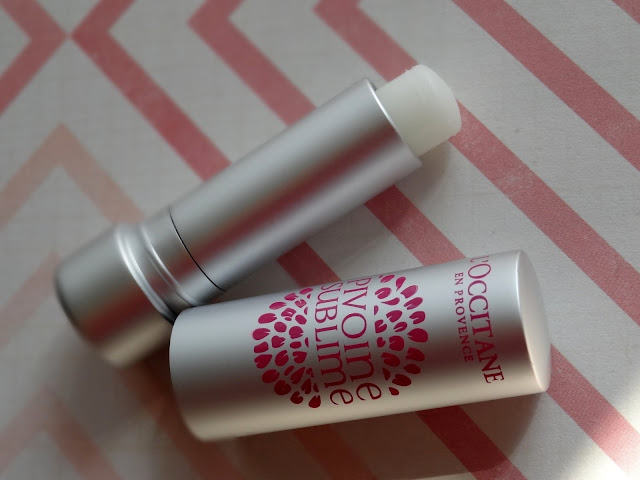 L'Occitane Pivoine Sublime Tinted Lip Balms in Rose Plum, Rose Amber & Transparent