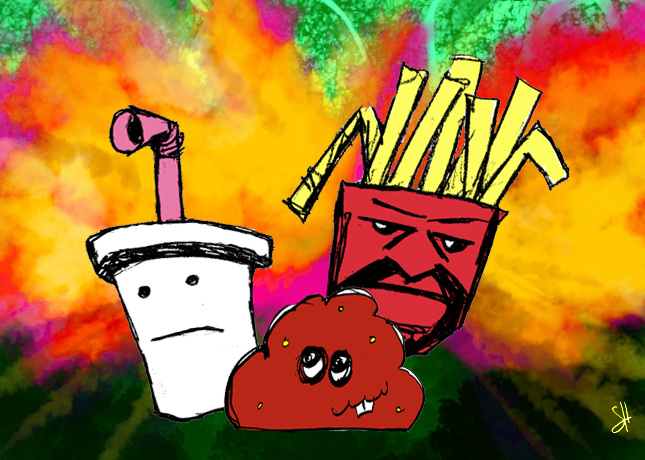 aqua teen hungerforce coloring pages - photo#23