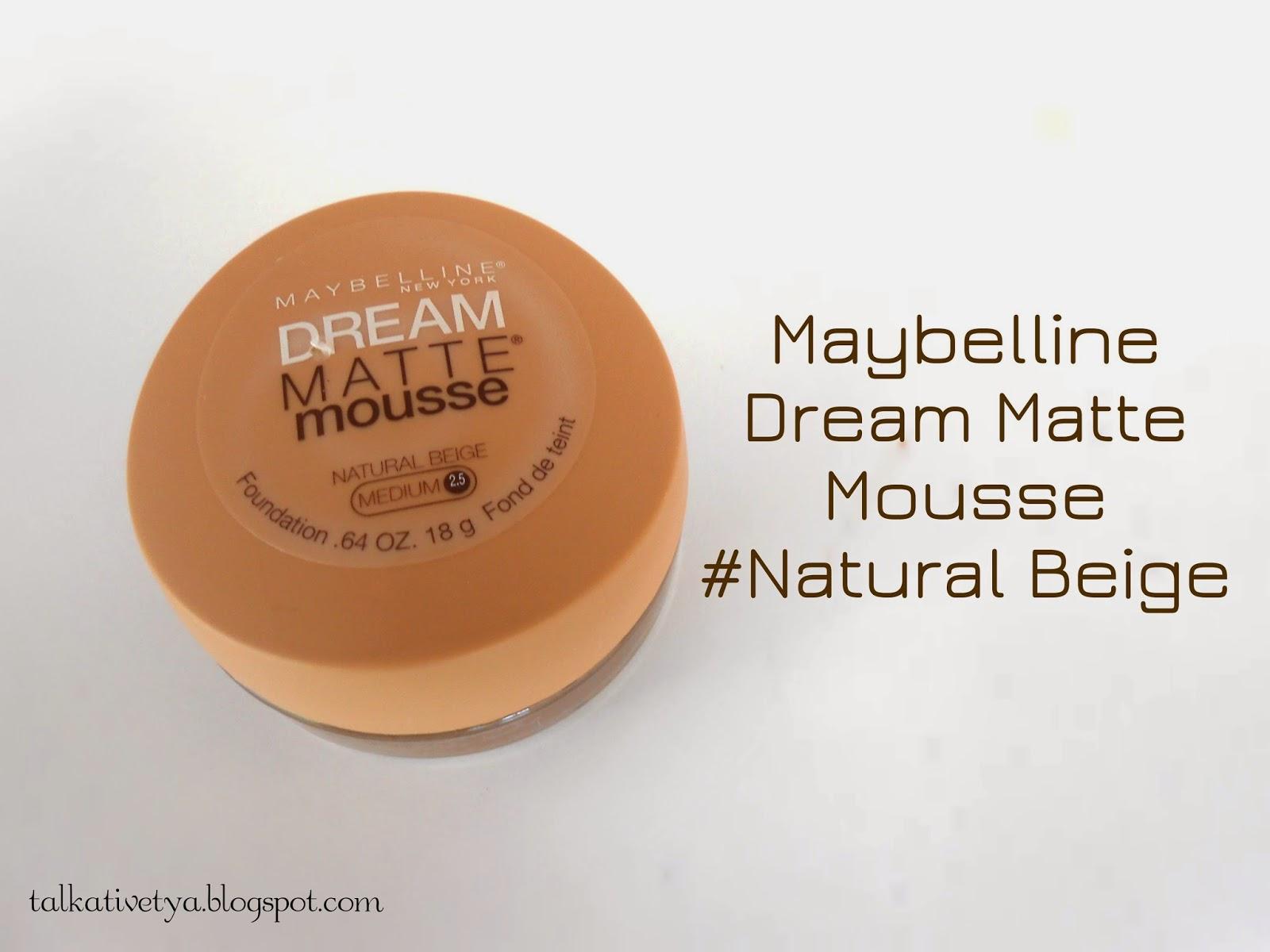 Review maybelline dream matte mousse foundation natural for Klebefolie beige matt
