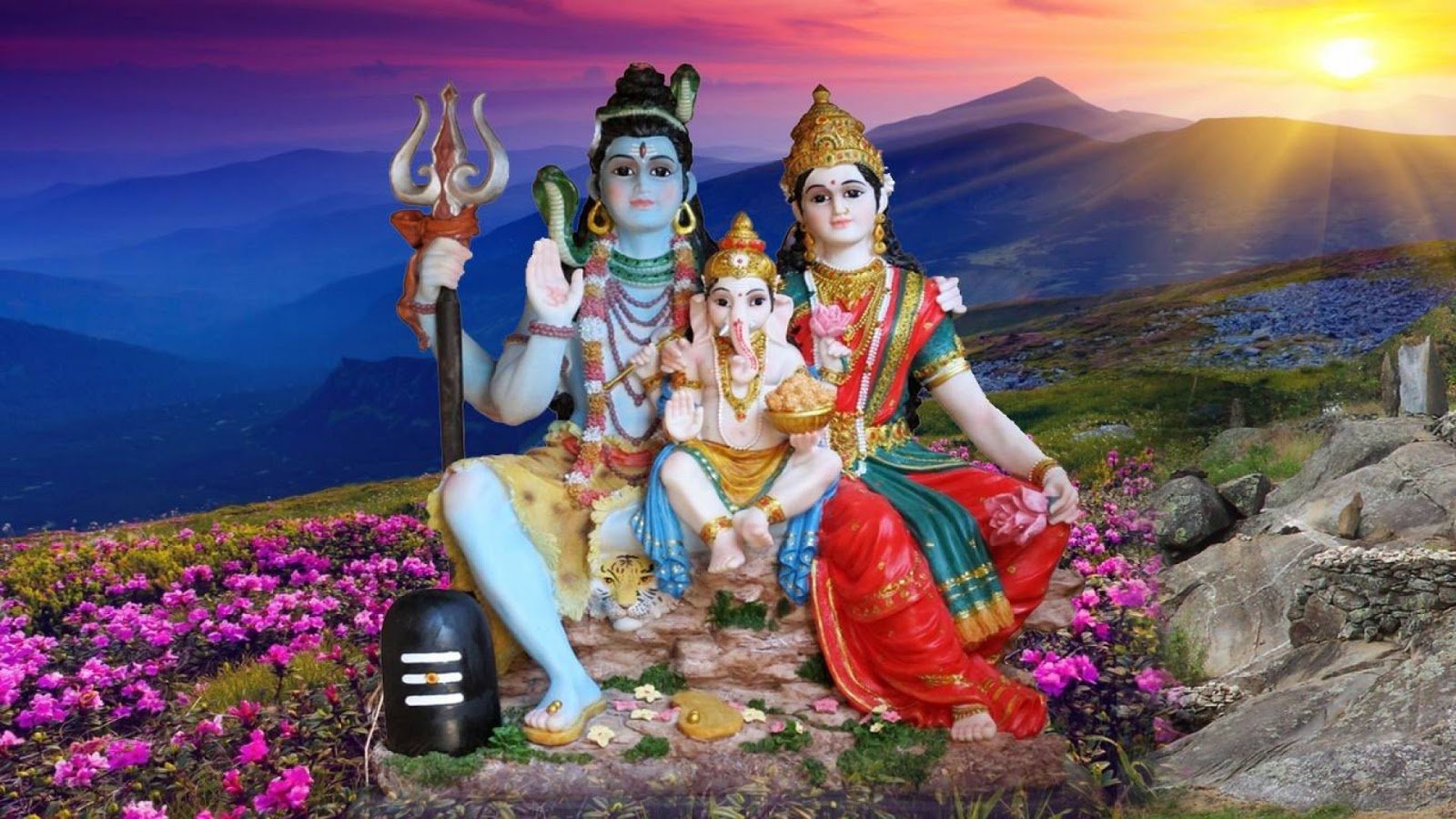 Cool Wallpaper High Resolution Lord Ayyappa - Shiva-Parvati-Ganesh-Family-Desktop-Wallpaper-1366x768-1920x1080  Best Photo Reference_135785.jpg