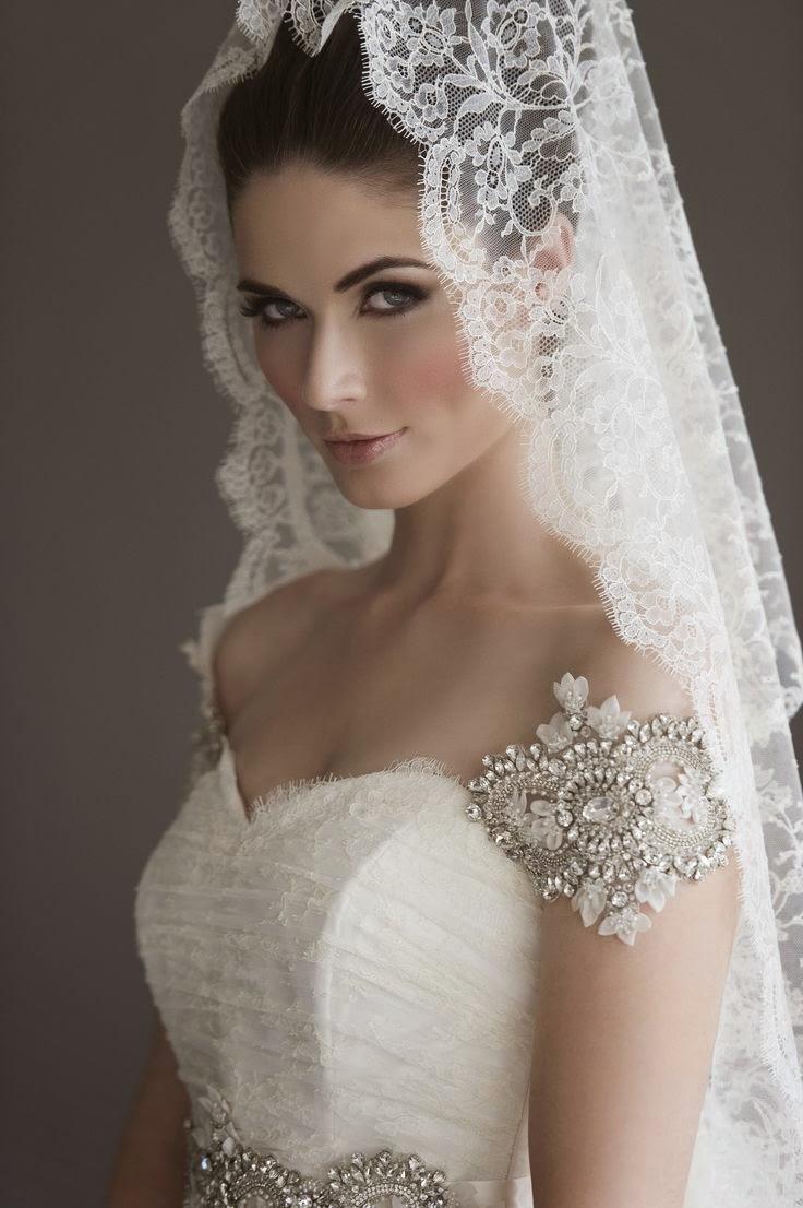 peinados para mantilla de novia - Peinados De Novia Con Velo