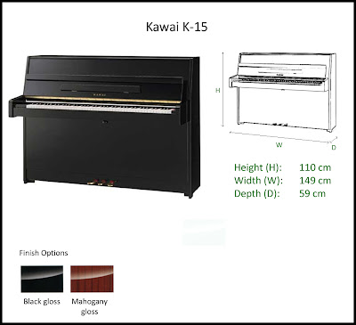 Jelia 39 s music playground upright piano kawai k series for Piano upright dimensions