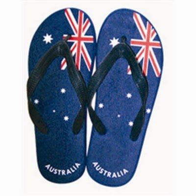 australian flag flip-flops or things