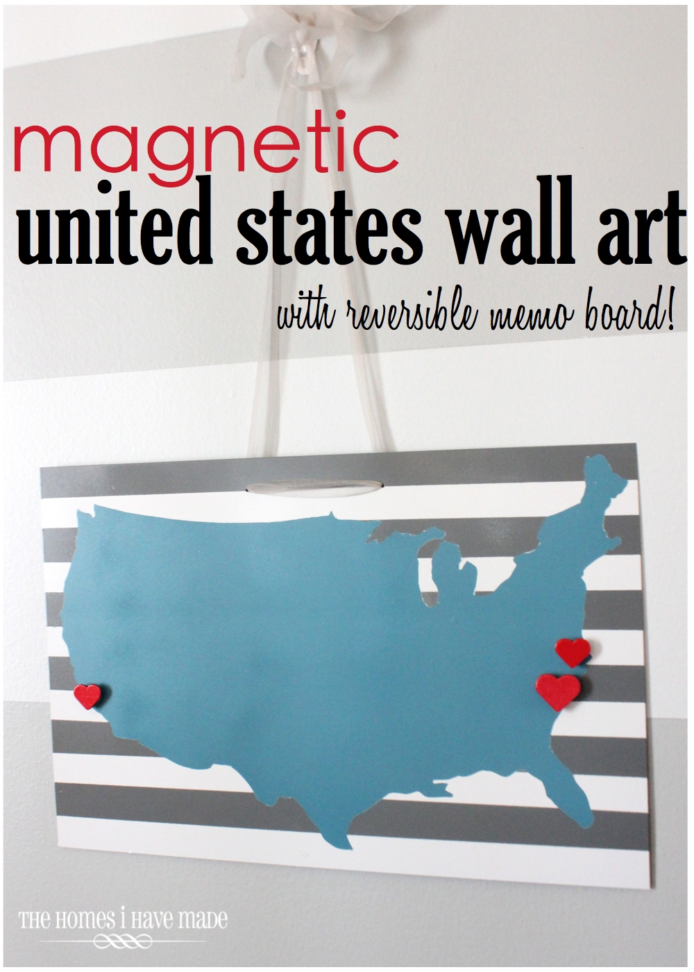 Magnetic USA Wall Hanging With Reversible Memo Board The - Magnetic us wall map