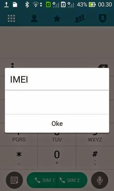 IMEI Hilang Asus Zenfone 4