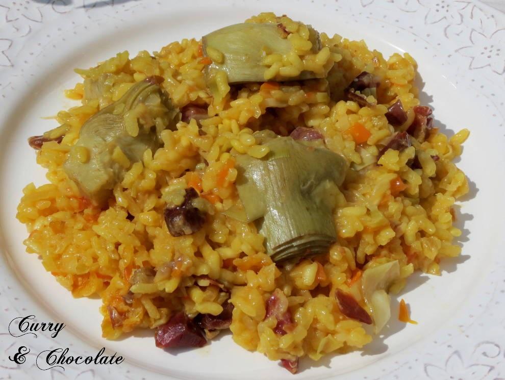 Curry y chocolate arroz con alcachofas y jam n - Arroz con alcachofas y jamon ...