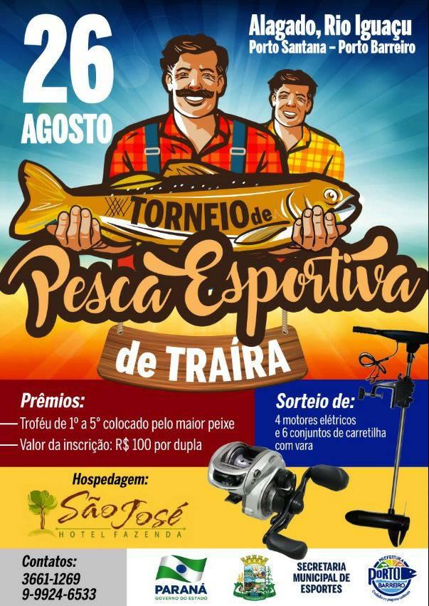 Porto Barreiro:Vem aí o Torneio de Pesca Esportiva de Traíra em Porto Santana