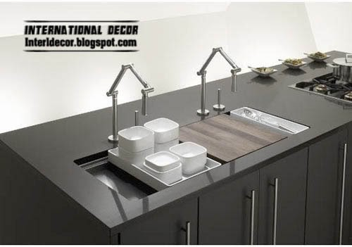 modern kitchen sinks 2014, black kitchen sink