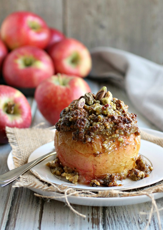 Spiced and Nutty Stuffed Apples
