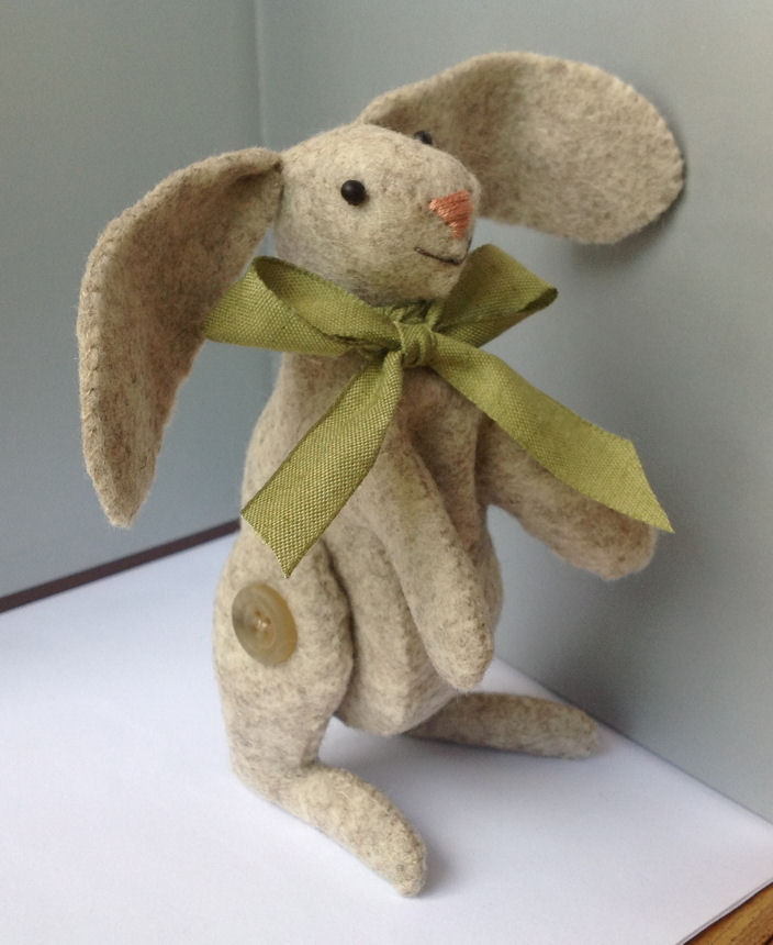 Little Green Cottage Designs Little Felt Bunny And Free Bunny