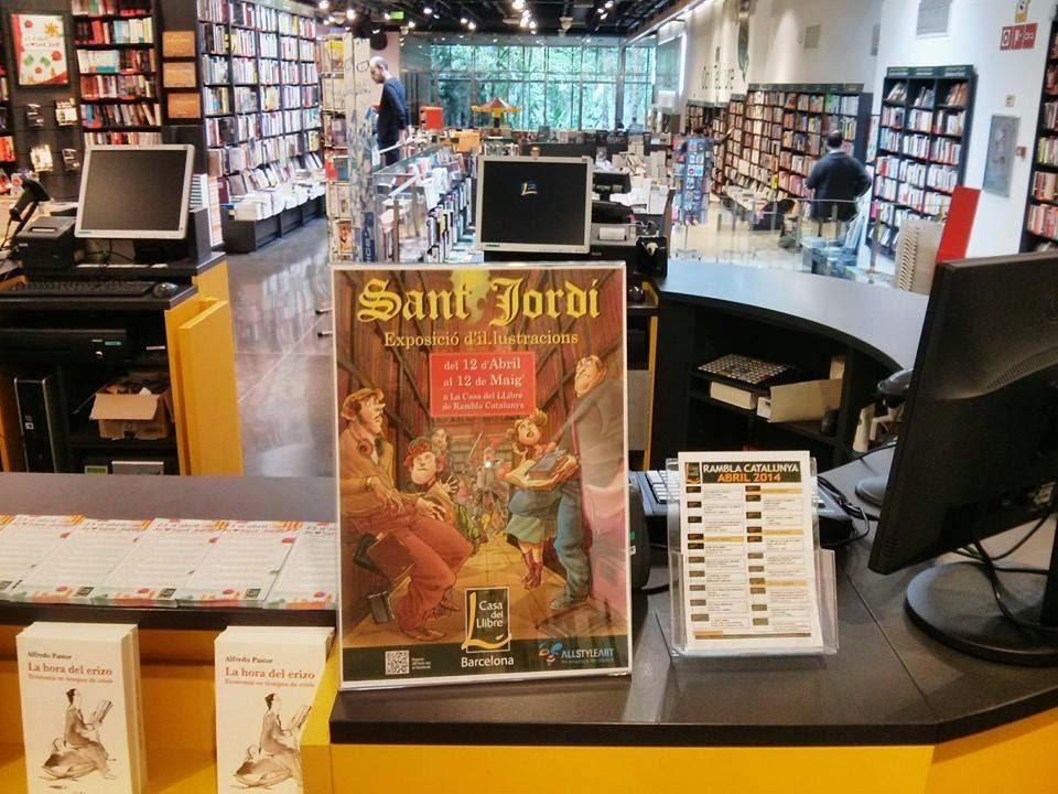 cartel en la Casa del llibre de rambla catalunya en barcelona