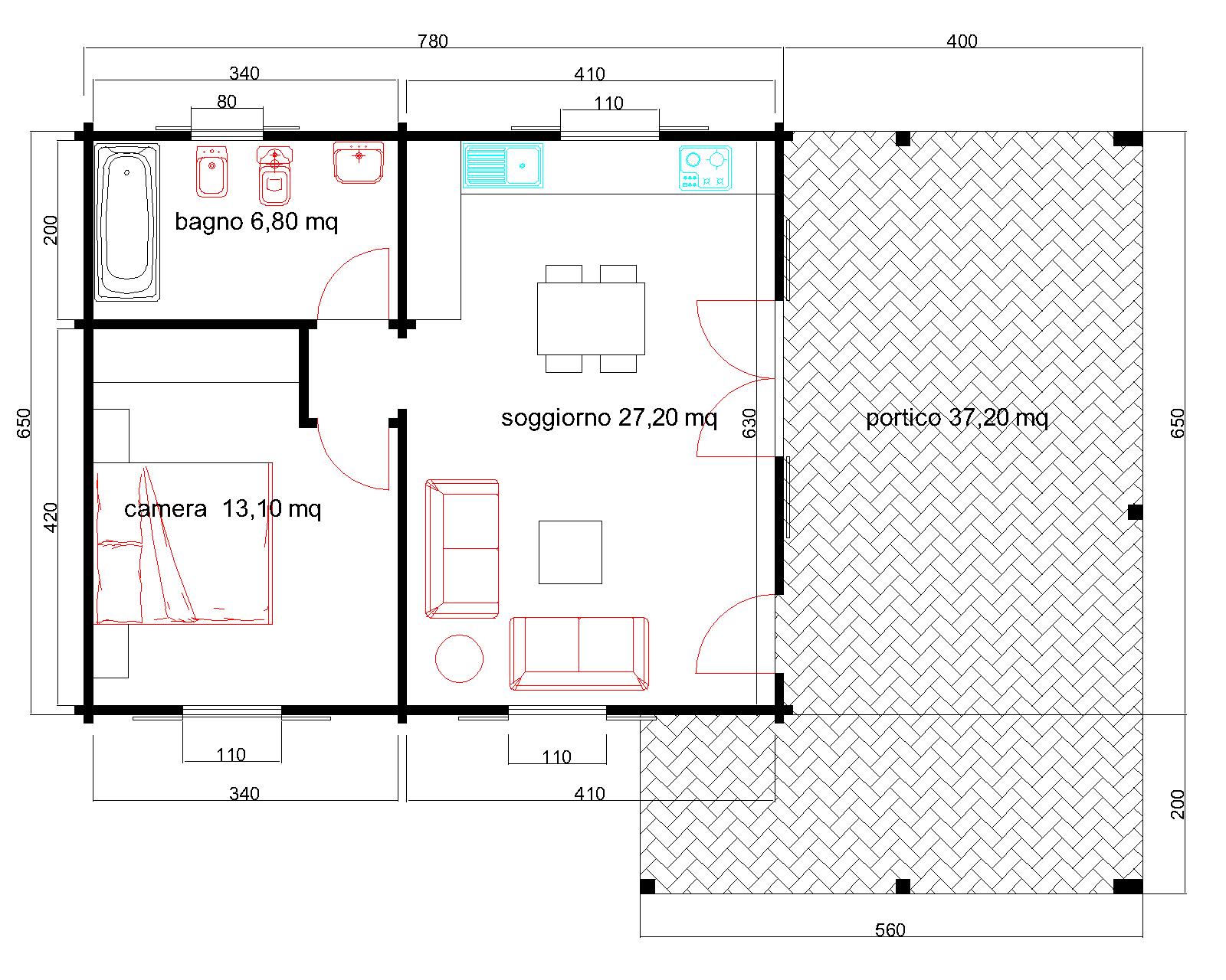 Progetti di case in legno diana 51t37 for Progetti contemporanei di case a pianta aperta