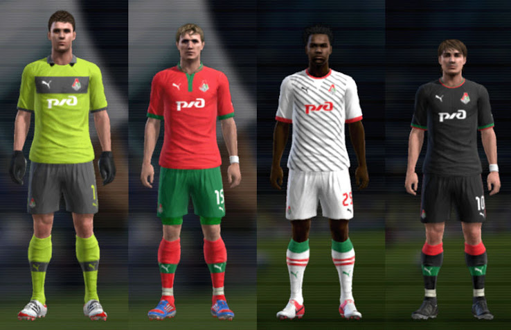 PES 2012 Lokomotiv Moscow 12 13 Kit Set by mario88