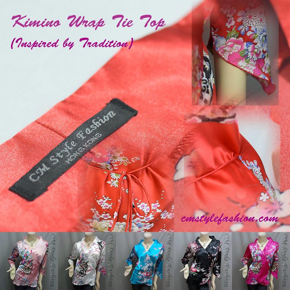 Kimono Wrap Tie Top Series