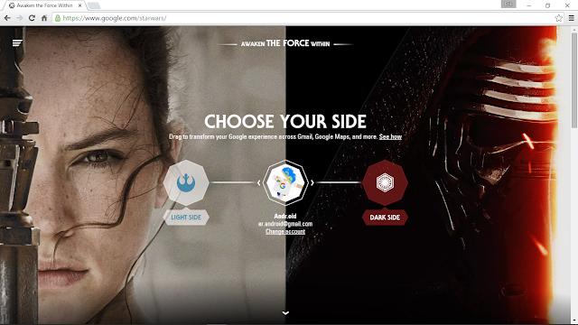Google's Interactive Starwars Page