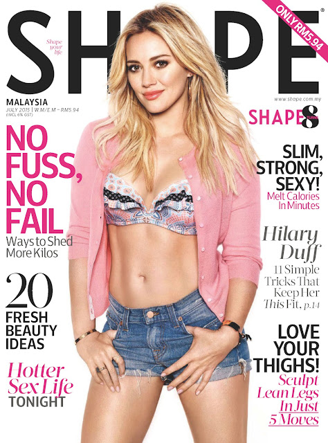 Actress, Singer @ Hilary Duff - Shape Malaysia, July 2015