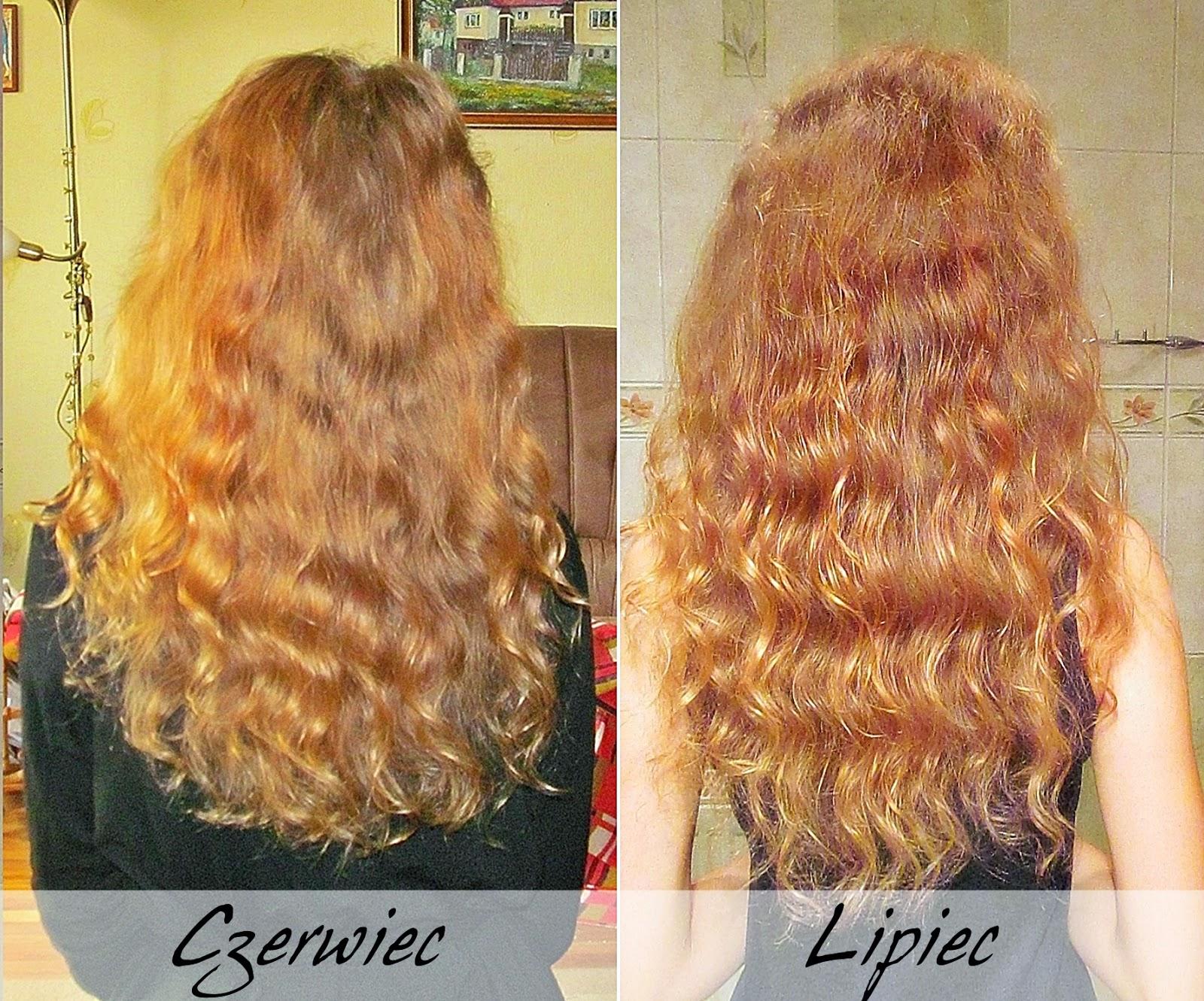 włosy w lipcu