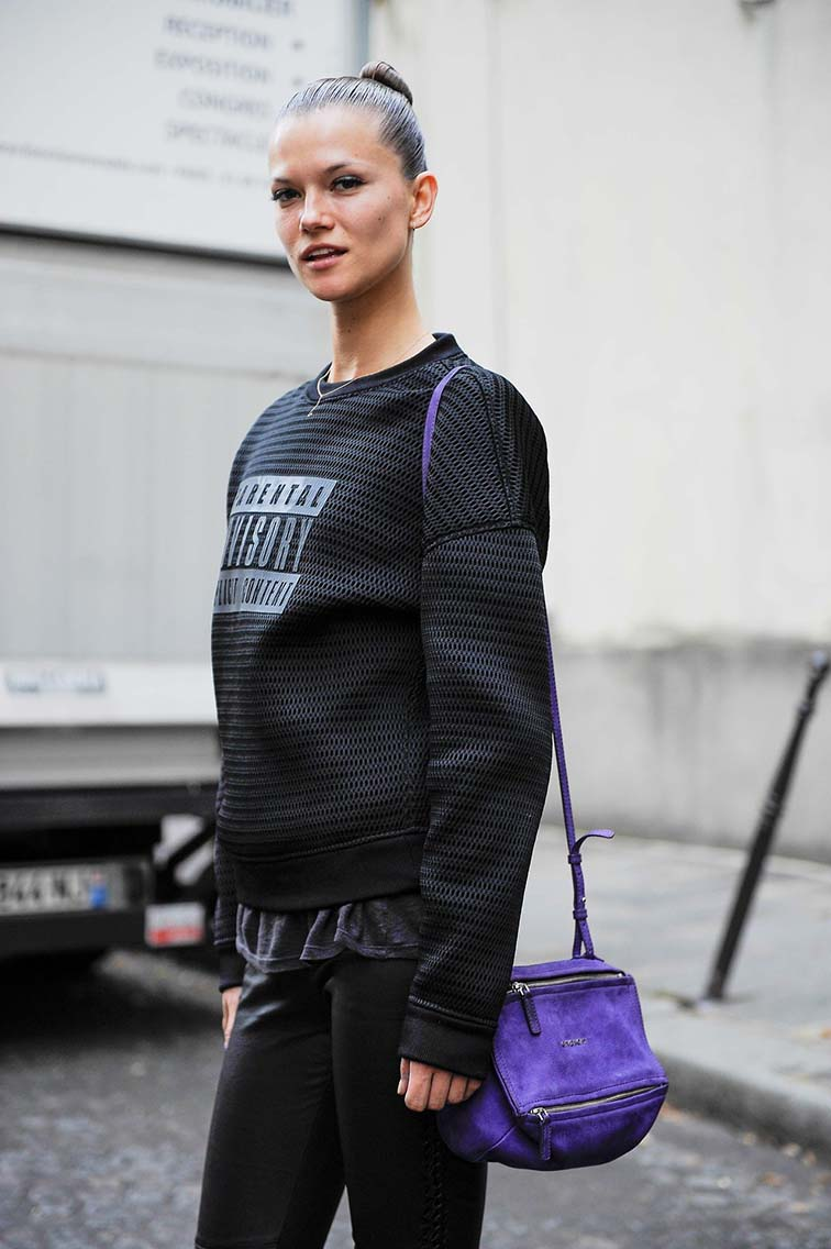 Kasia Struss, model off duty, street style, summer 2014 photographed by Giacomo Cabrini