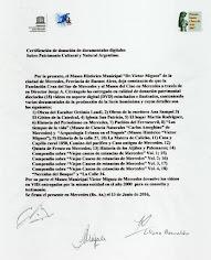 IMPORTANTE Y VALIOSA DONACION AL MUSEO HISTORICO MUNICIPAL VICTOR MIGUEZ