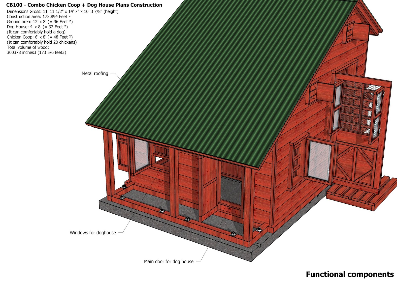 Yam coop hen house construction plans most popular for Most popular house plans 2015