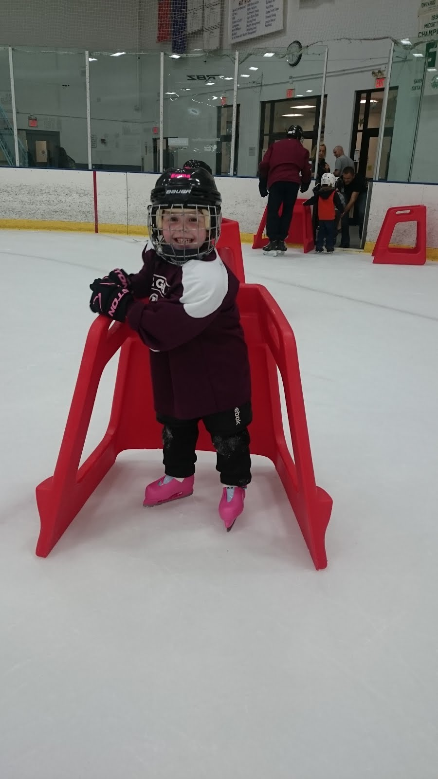 Emma Starts Hockey