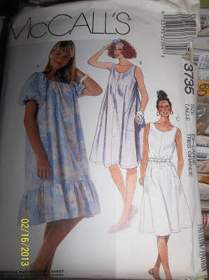 McCall's 3735 dress pattern
