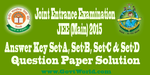 JEE Main 2016 Answer Key & Analysis