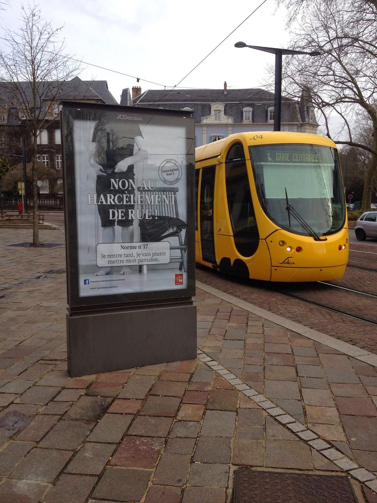Campagne d'affichage harcèlement de rue Mulhouse