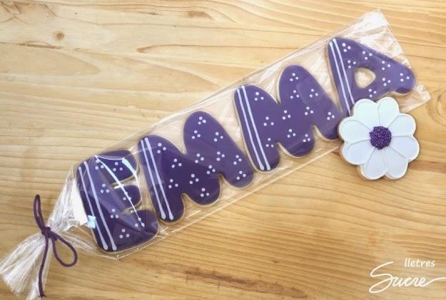 Galleta decorada letra, galeta decorada lletra, letras, lletres, galetes per naixements, galletas para nacimientos