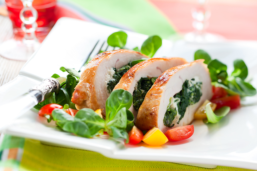 Курица со шпинатом рецепт с фото
