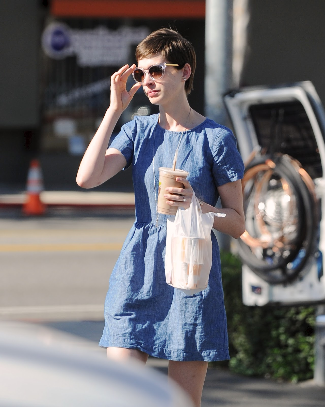 Anne Hathaway - Out In West Hollywood