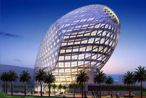 Amazing Egg Shaped Office