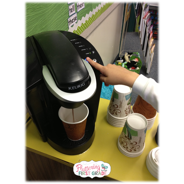 We had no idea the power of allowing the kids to touch the keurig but