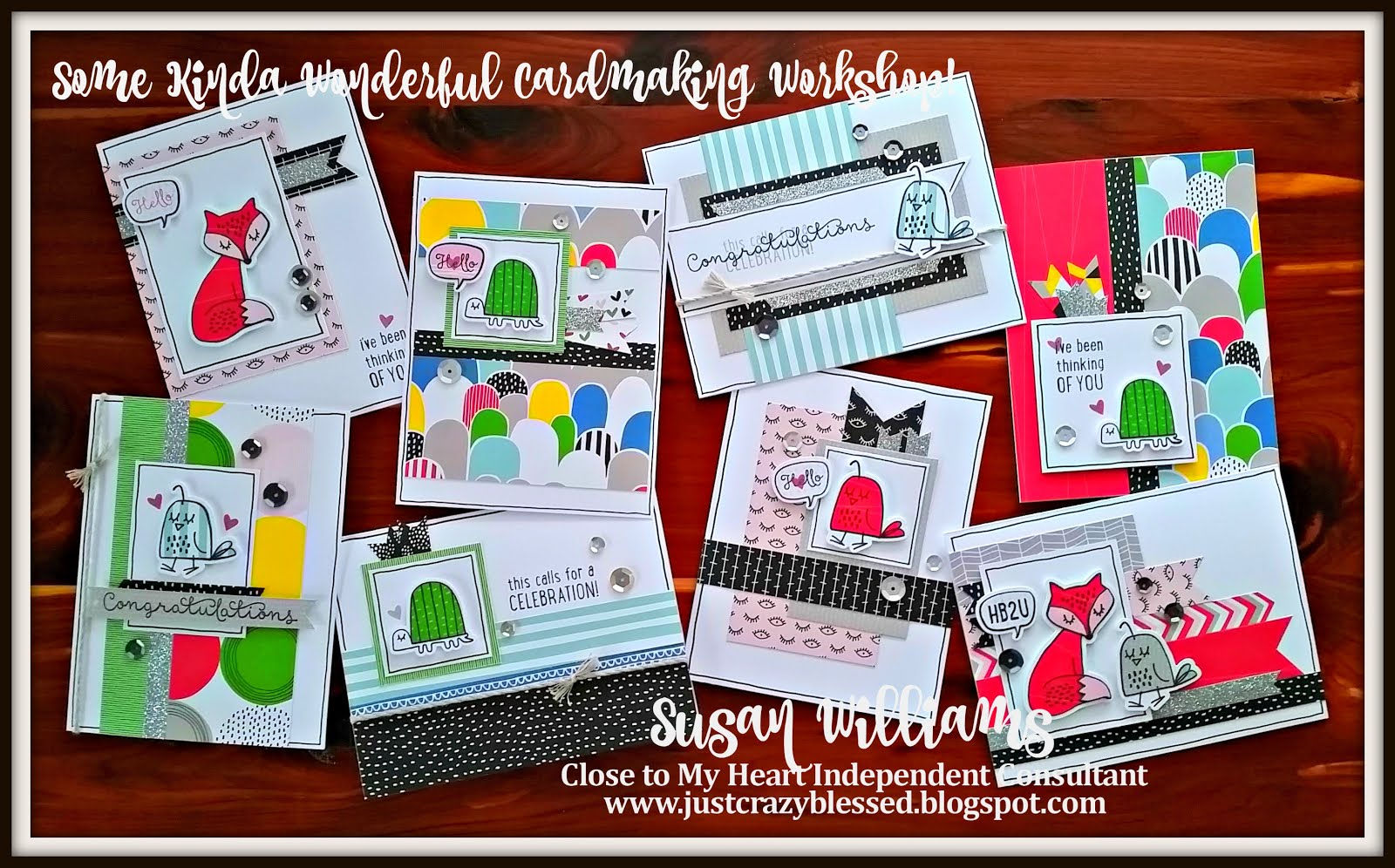 'Some Kinda Wonderful' Pre-Cut Un-Stamped (8) Card Kit!