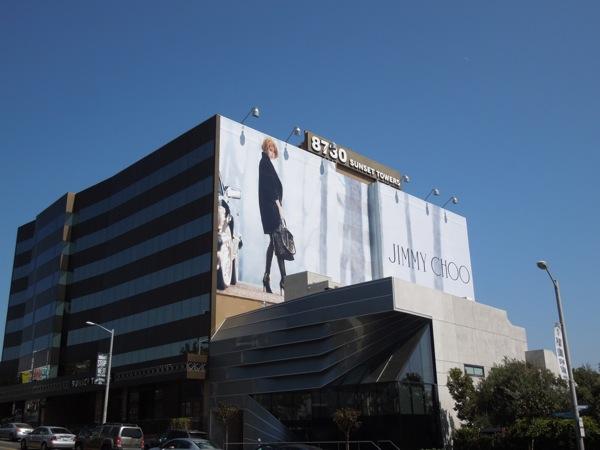 Giant Nicole Kidman Jimmy Choo billboard Sunset Strip
