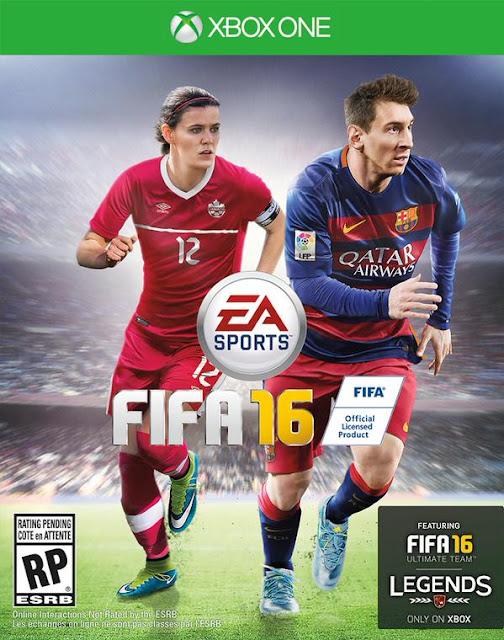 Christine Sinclair fait la couverture de Fifa 16 avec Lionel Messi