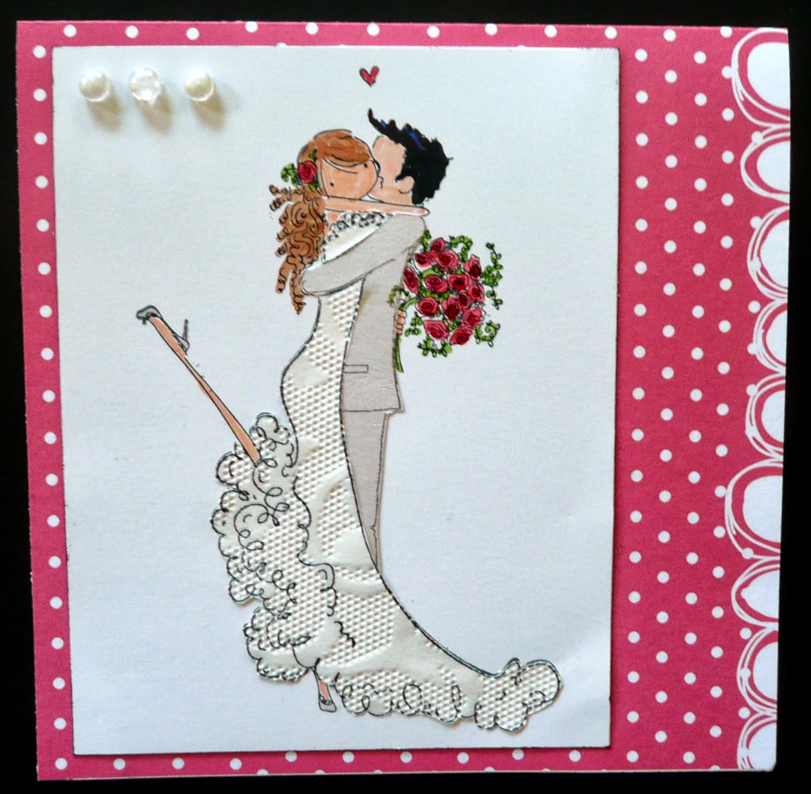 How to scrapbook wedding cards - I Have Had Such Fun Making This Wedding Card I Have Been Looking For Cute Bride And Groom Stamps And Found That Really Cute Stamps Were Hard To Find