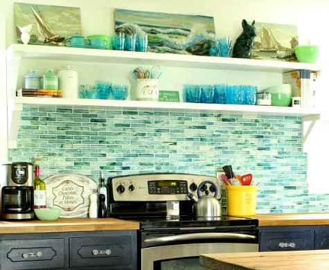 coastal kitchen backsplash ideas with tiles | from beach murals to